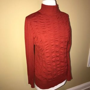 Sweaters - L/S Turtle Neck Sweater with Pucker Accent Details
